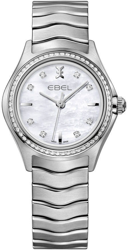 Ebel Wave 1216194 jaragar top brand tourbillon automatic mechanical diamond dial clock wtaches men classic luxury business leather wristwatch uhr