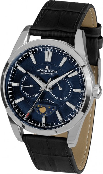 Jacques Lemans Liverpool Moonphase 1-1901B часы chanel j12 moonphase 38mm