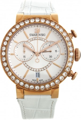 Swarovski Citra Sphere Chrono White Rose Gold Tone 5080602