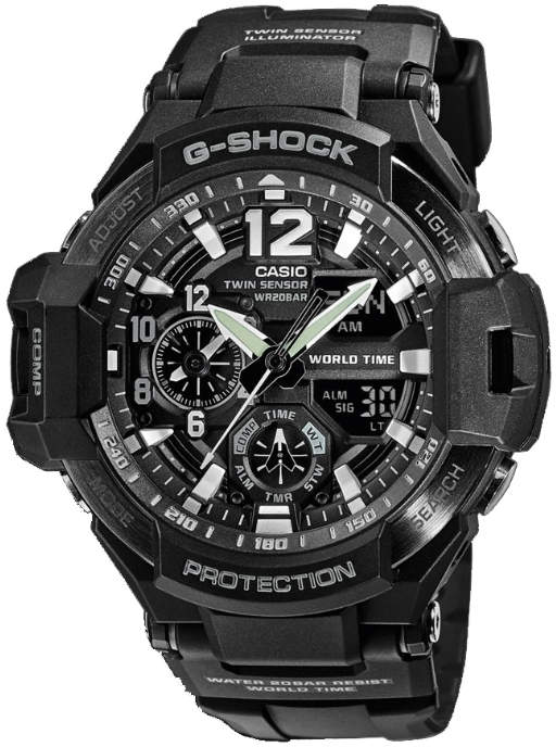 Casio G-shock Gravitymaster GA-1100-1A часы casio g shock ga 110gb 1a