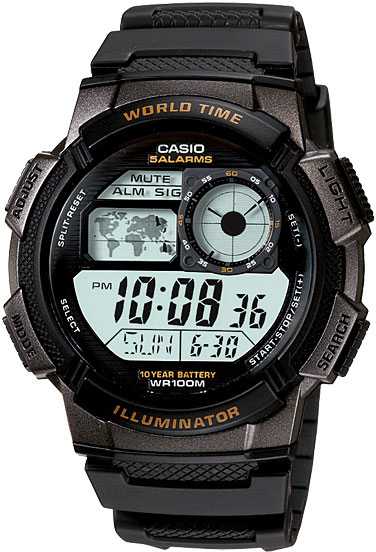 Casio AE-1000W-1A часы casio collection ae 2000wd 1a black silver