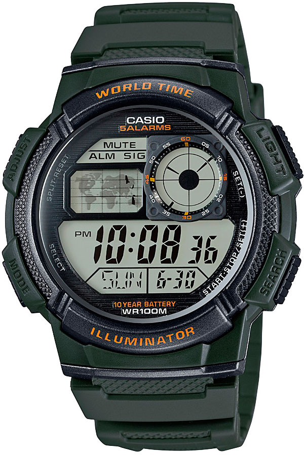 Casio AE-1000W-3A часы casio collection ae 1000w 1a black