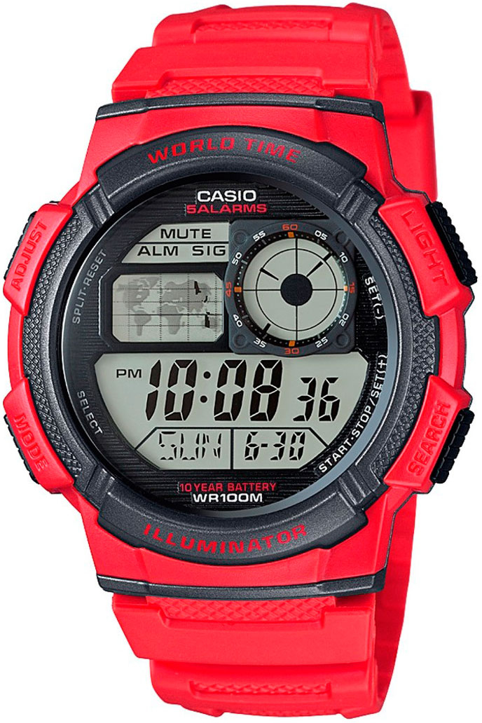 Casio AE-1000W-4A часы casio collection ae 1000w 1a black