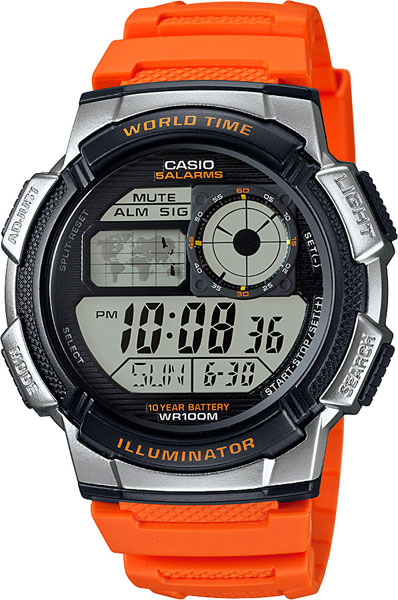 Casio AE-1000W-4B часы casio collection ae 1000w 1a black