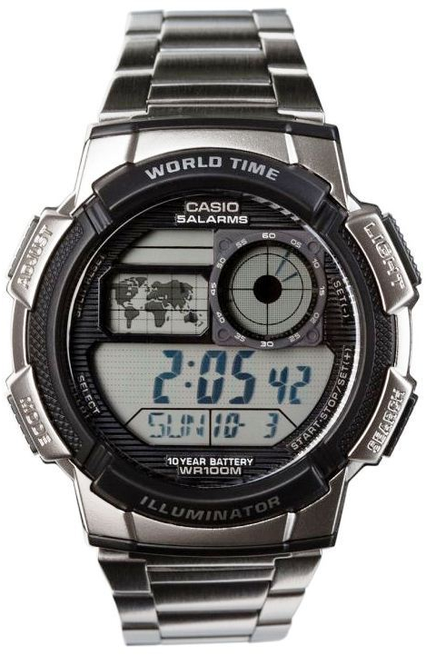 Casio AE-1000WD-1A часы casio collection ae 1000w 1a black