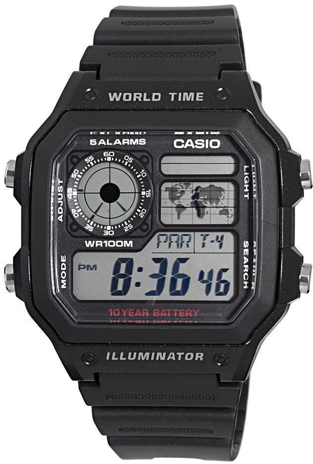 Casio AE-1200WH-1A часы casio collection 56735 ae 1200whd 1a grey page 11