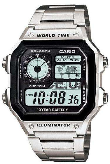 Casio AE-1200WHD-1A часы casio collection 56735 ae 1200whd 1a grey page 11