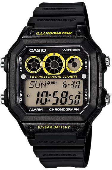 Casio AE-1300WH-1A часы casio collection ae 1000w 1a black