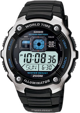 Casio AE-2000W-1A часы casio collection ae 2000wd 1a black silver