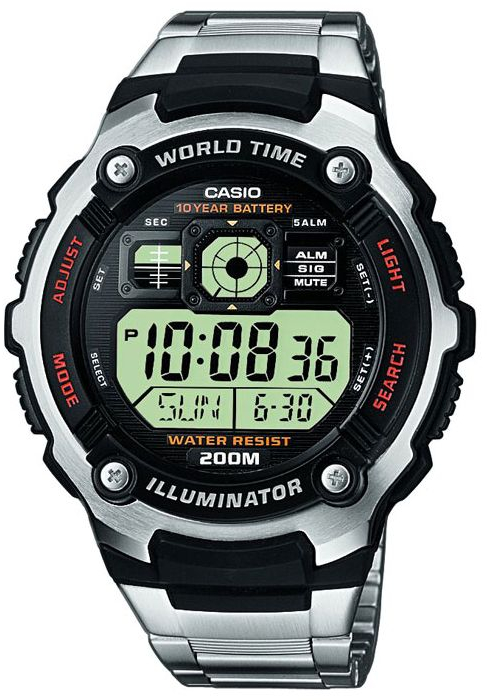 Casio AE-2000WD-1A часы casio collection ae 2000wd 1a black silver