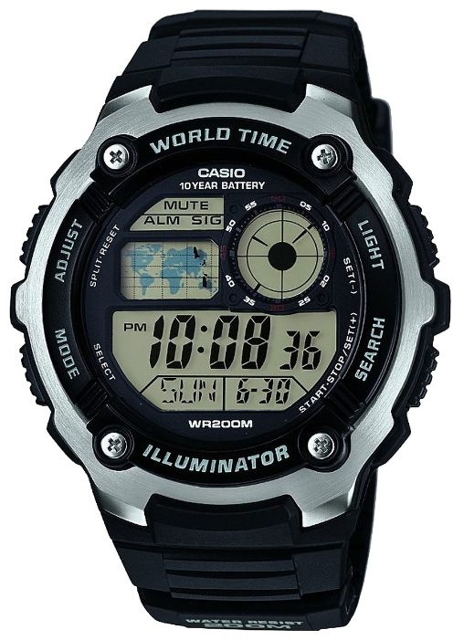 Casio AE-2100W-1A часы casio collection ae 2000wd 1a black silver