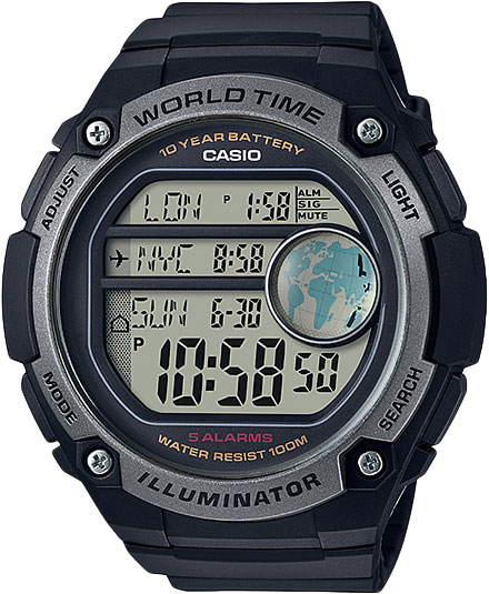Casio Standard AE-3000W-1A часы casio collection ae 2000wd 1a black silver