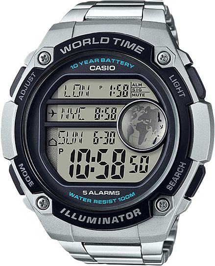 Casio Standard AE-3000WD-1A часы casio collection ae 2000wd 1a black silver
