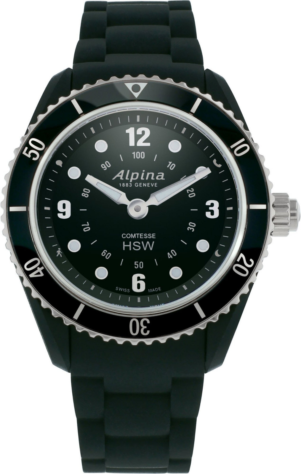 Alpina Comtesse Horological Smartwatch AL-281BS3V6 alpina horological smartwatch al 285s5aq6