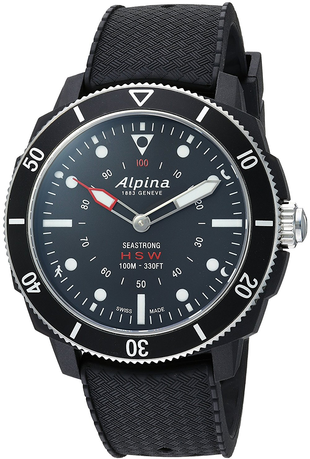 Alpina Seastrong Horological Smartwatch AL-282LBB4V6 alpina horological smartwatch al 285s5aq6