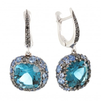 Серьги Grand Maitre GM Lady AZURE.E.WD3.BT.S