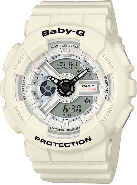 Casio Baby-G BA-110PP-7A часы женские casio g shock baby g ba 120 7b white