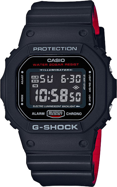 Casio G-shock DW-5600HR-1E casio часы casio dw 5600m 3e коллекция g shock