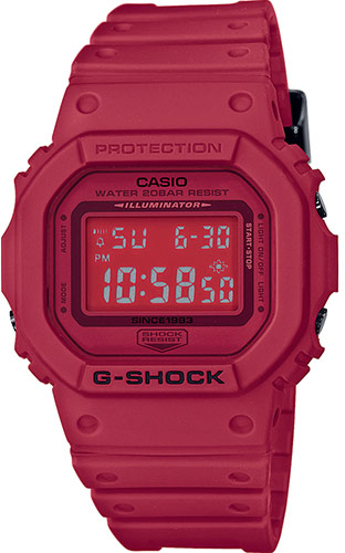 Casio G-shock Red Out DW-5635C-4E casio часы casio dw 5600m 3e коллекция g shock