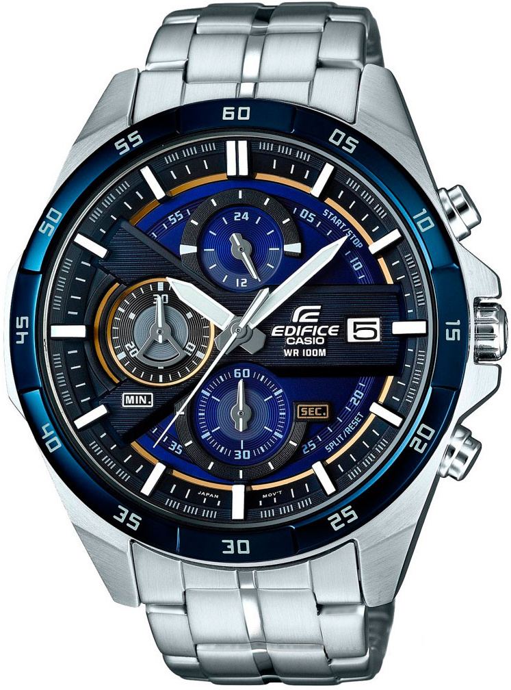 Casio Edifice EFR-556DB-2A sinobi luxury brand new design men watch silver stainless steel mesh band quartz watches men simple slim business male clock