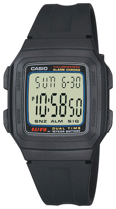 Casio F-201W-1A casio ft 201w 1v
