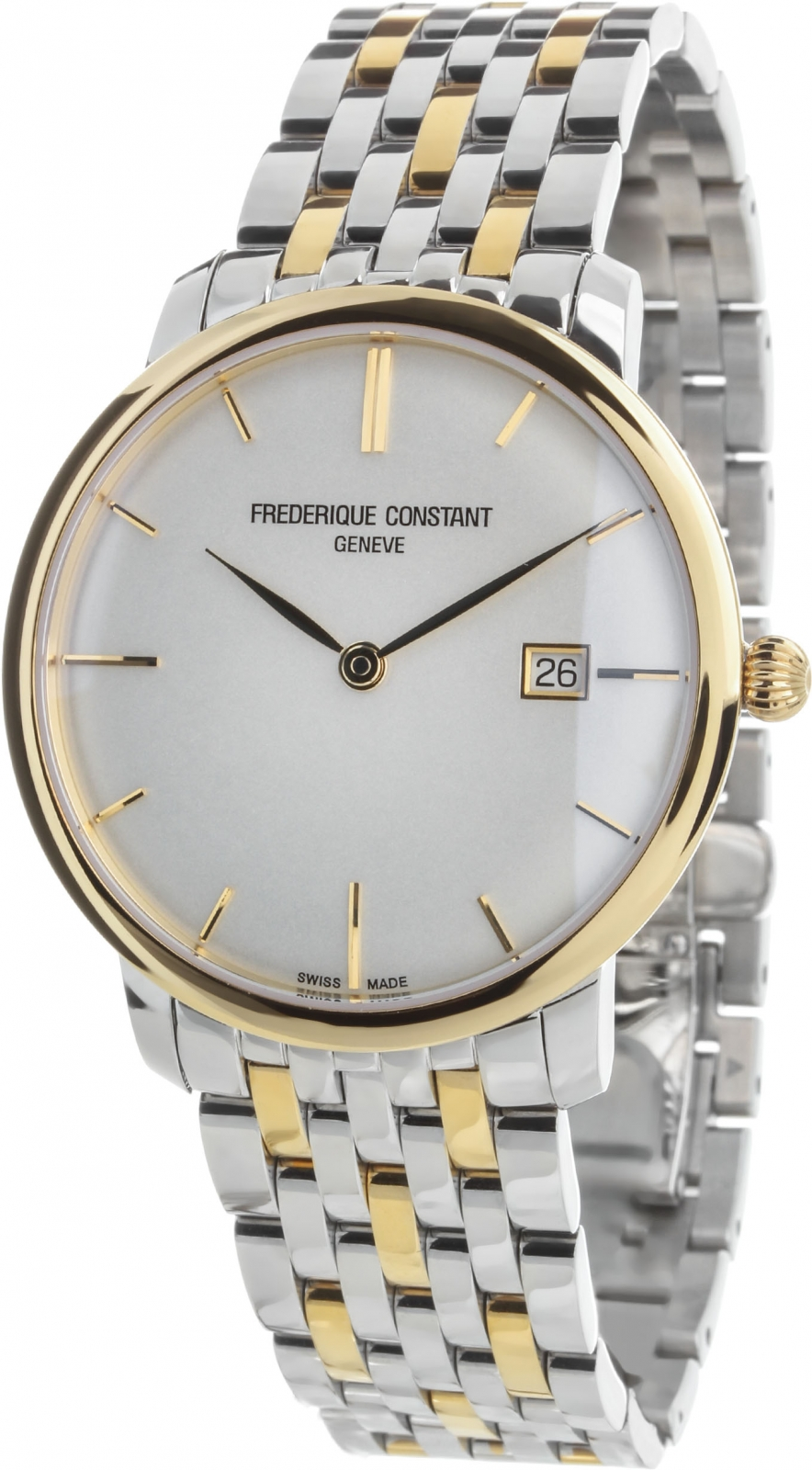Frederique Constant Slim Line FC-306V4S3B2 fashionable halter backless leopard print spliced swimwear for women