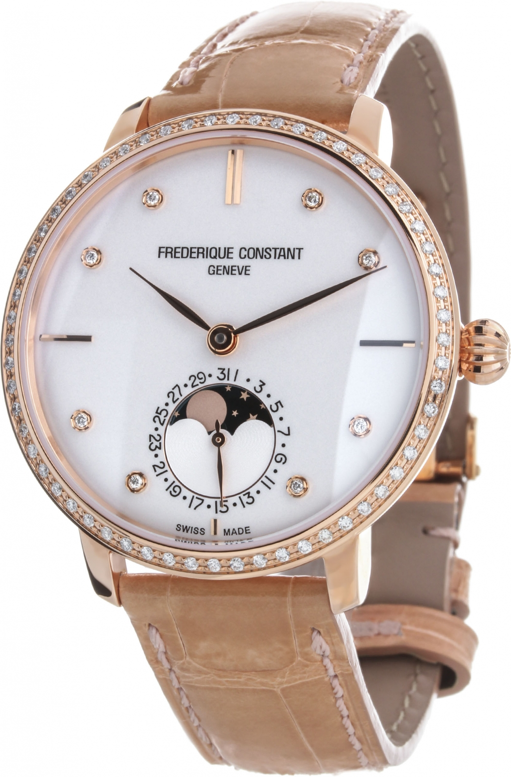 Frederique Constant Manufacture Slim Line Moonphase FC-703VD3SD4 2016 brand new winter sexy women thigh high fur boots black gray lady over the knee shoes chunky heel etc02 plus big size 10 43