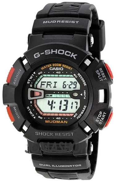 Casio G-shock Mudman G-9000-1V casio ft 201w 1v