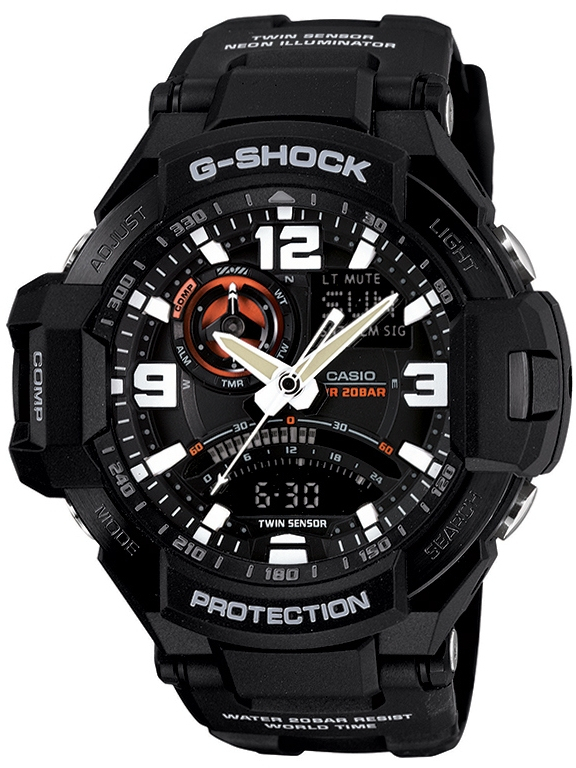 Casio G-shock Gravitymaster GA-1000-1A часы casio g shock ga 110gb 1a