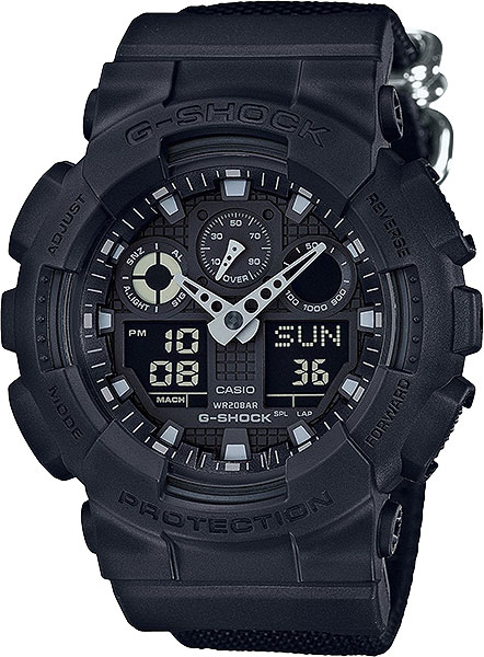 Casio G-shock GA-100BBN-1A casio часы casio ga 100ly 1a коллекция g shock