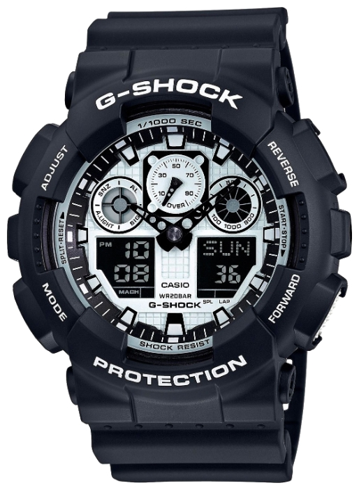 Casio G-shock G-Classic GA-100BW-1A casio g shock mt g mtg g1000gb 1a