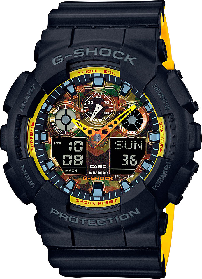 Casio G-shock GA-100BY-1A часы casio g shock ga 110mb 1a black