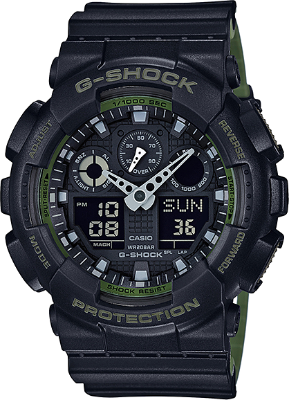 Casio G-shock GA-100L-1A casio g shock ga 800 1a