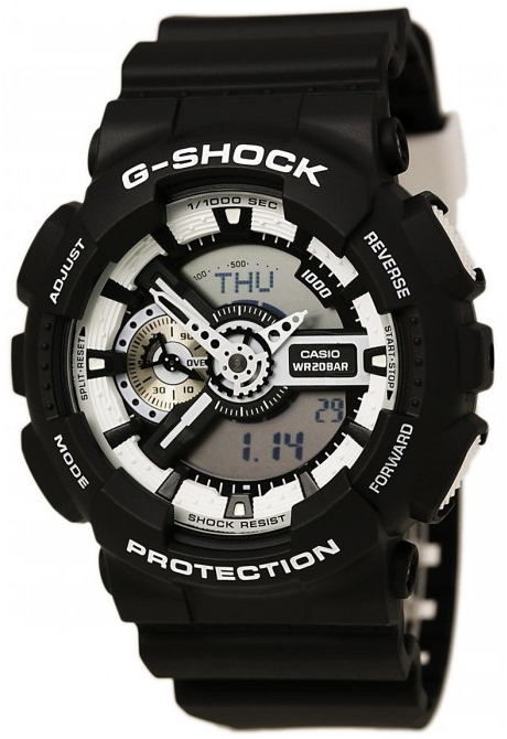 Casio G-shock GA-110BW-1A часы casio g shock ga 110gb 1a