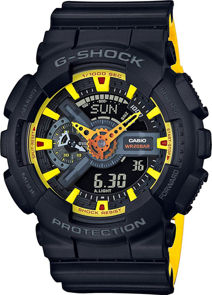 Casio G-shock GA-110BY-1A часы casio g shock ga 110gb 1a