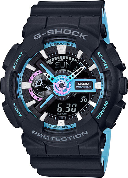 Casio G-shock GA-110PC-1A часы casio g shock ga 110mb 1a black