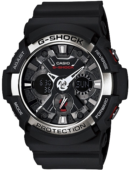 Casio G-shock GA-200-1A часы casio g shock ga 110mb 1a black