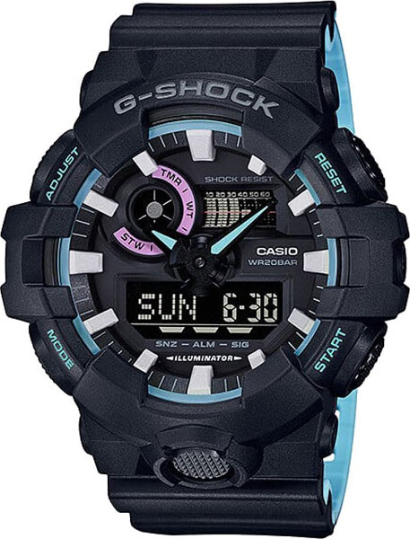 Casio G-shock GA-700PC-1A часы casio g shock ga 110mb 1a black
