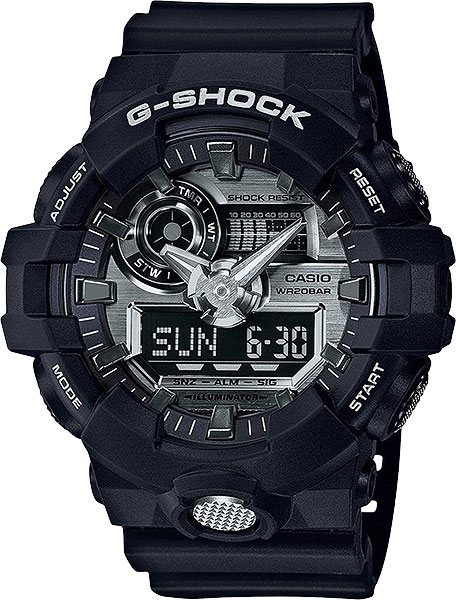 Casio G-shock GA-710-1A  casio g shock ga 110ht 1a