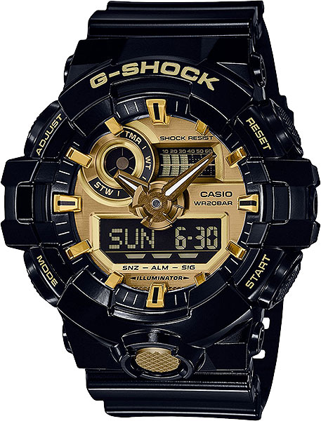 Casio G-shock GA-710GB-1A часы casio g shock ga 110gb 1a
