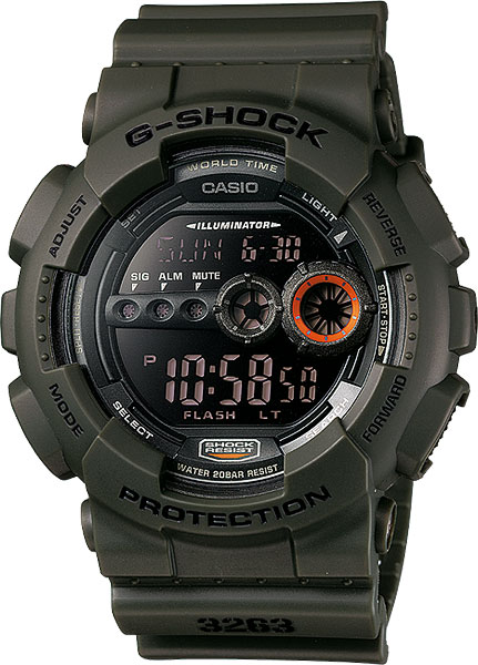 Casio G-shock GD-100MS-3E casio часы casio dw 5600m 3e коллекция g shock