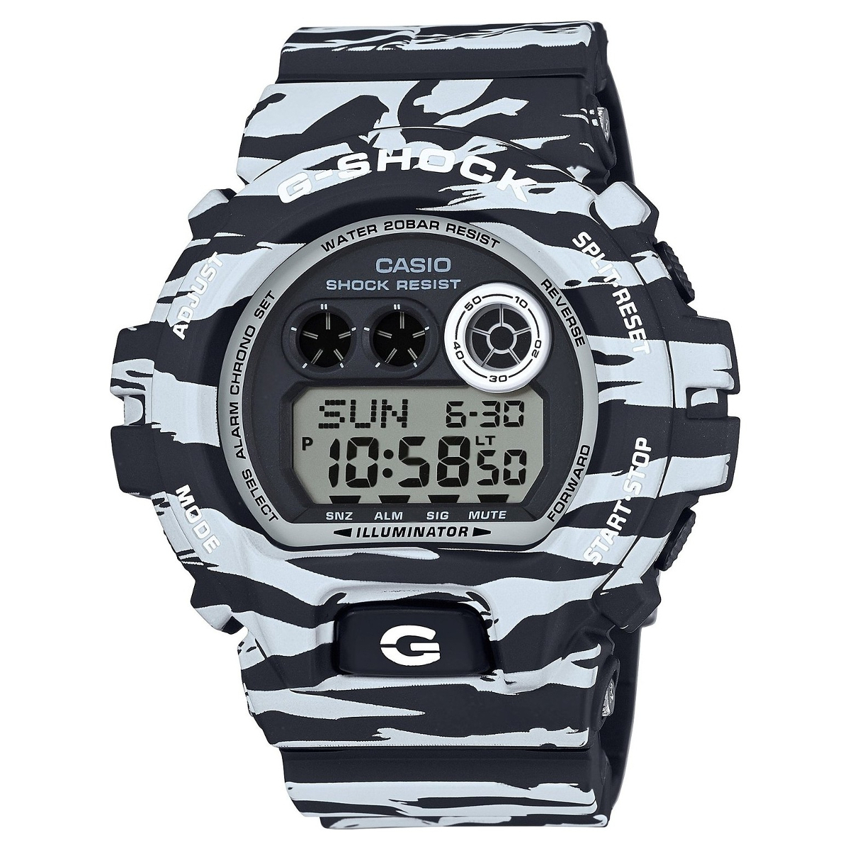 Casio G-shock GD-X6900BW-1E double zipper canvas backpack