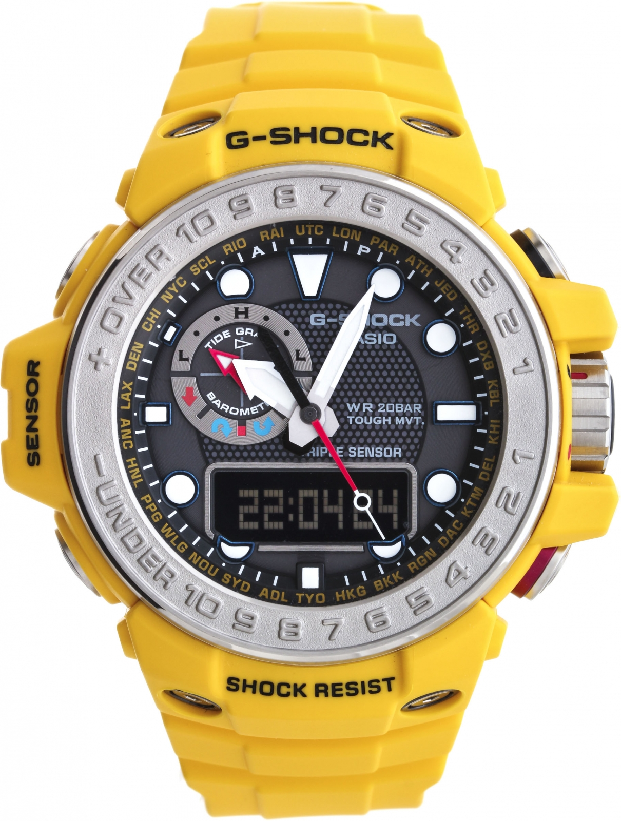Casio G-shock Gulfmaster GWN-1000-9A casio g shock gulfmaster tough mvt multi band 6 gwn 1000e 8ajf men s japan model
