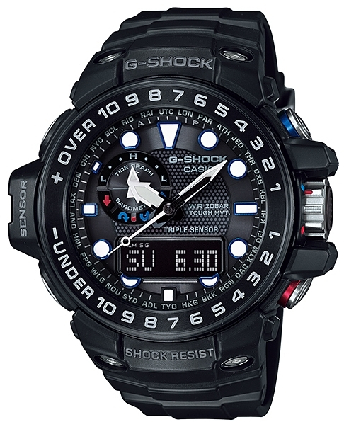 Casio G-shock Gulfmaster GWN-1000B-1A casio g shock gulfmaster tough mvt multi band 6 gwn 1000e 8ajf men s japan model