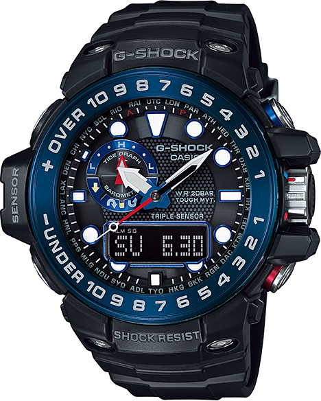 Casio G-shock Gulfmaster GWN-1000B-1B casio g shock gulfmaster tough mvt multi band 6 gwn 1000e 8ajf men s japan model