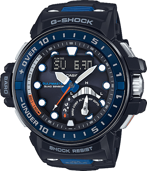 Casio G-shock Gulfmaster GWN-Q1000-1A casio g shock gulfmaster tough mvt multi band 6 gwn 1000e 8ajf men s japan model