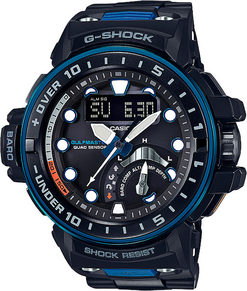Casio G-shock Gulfmaster GWN-Q1000MC-1A2 casio g shock gulfmaster tough mvt multi band 6 gwn 1000e 8ajf men s japan model