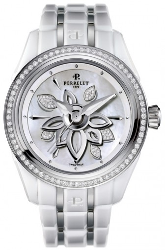 Perrelet White Diamond Flower A2040/AP