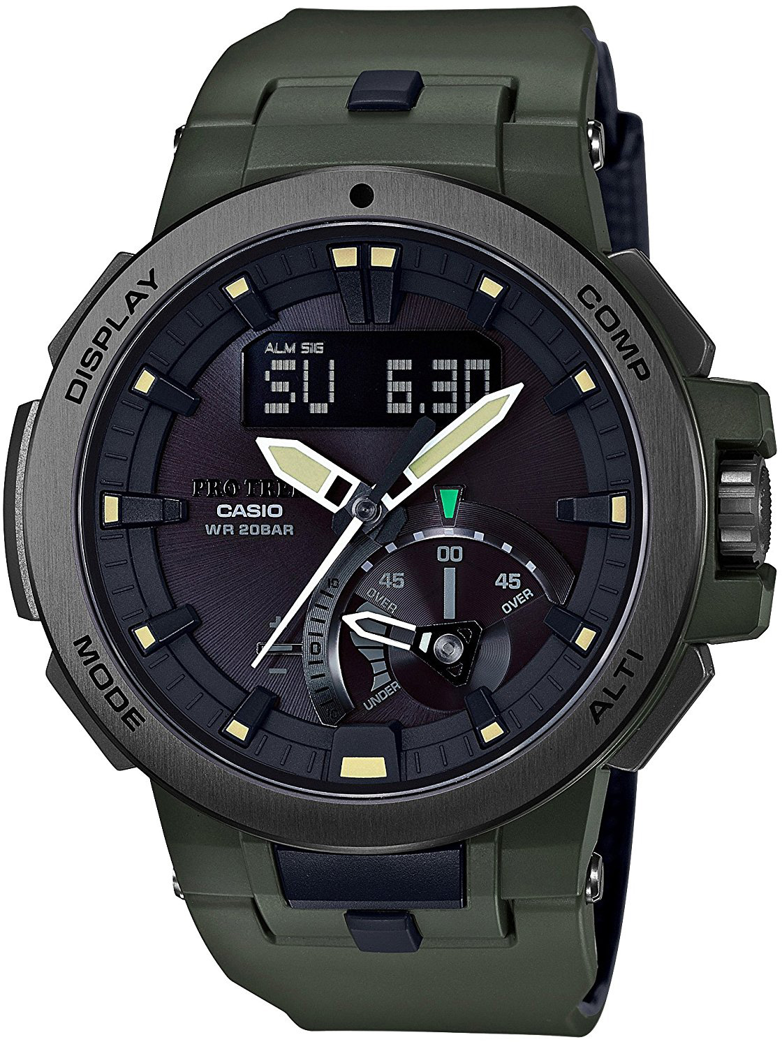 Casio Pro Trek Multi-Field PRW-7000-3E кварцевые часы casio sport prw 6000 1e black