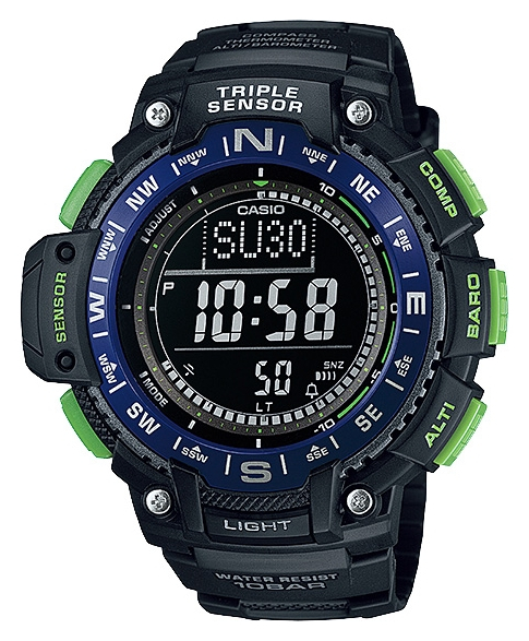 цена Casio OutGear SGW-1000-2B онлайн в 2017 году